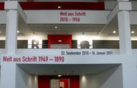 Welt aus Schrift, type exhibition in Berlin