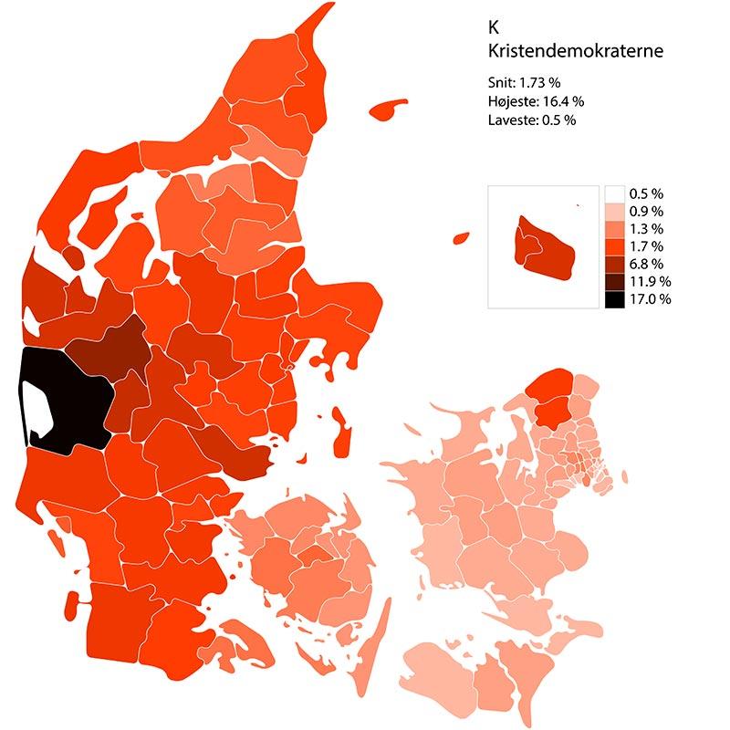 Folketingssvalg 2019. Performance for liste K