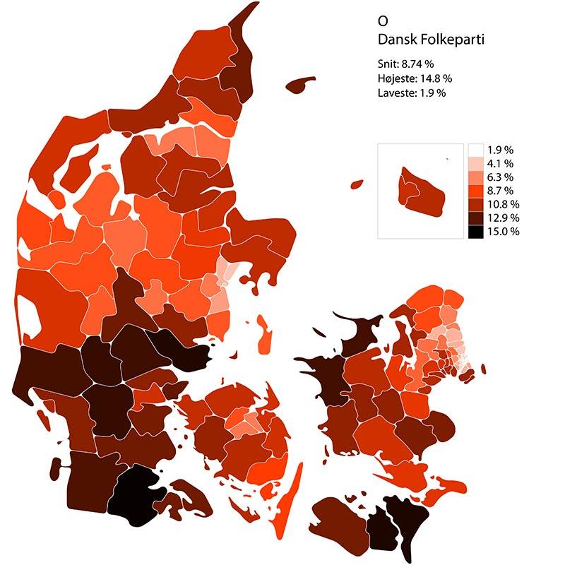 Folketingssvalg 2019. Performance for liste O